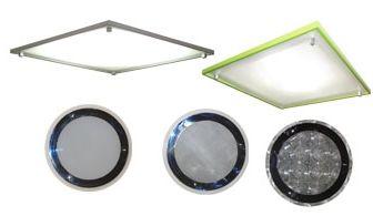 barevné variace rámečků stropního difuzoru světlovodu