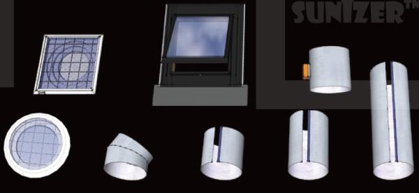 tubuslichtleiter sunizer. Black Bedroom Furniture Sets. Home Design Ideas